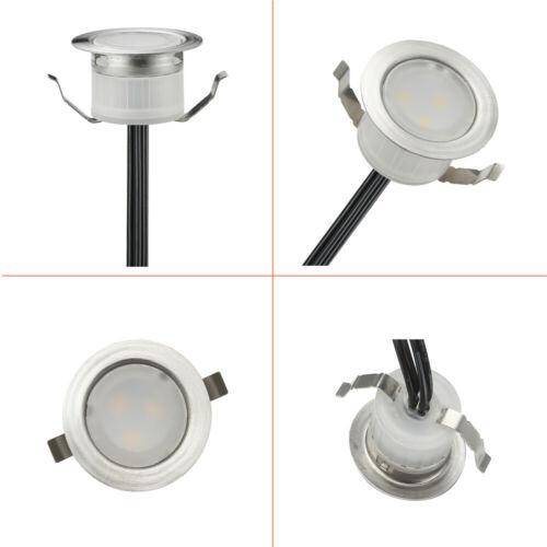 Φ31mm RGB 12V LED Bodeneinbaustrahler Einbauleuchte Terrasse Außen Lampe Spot