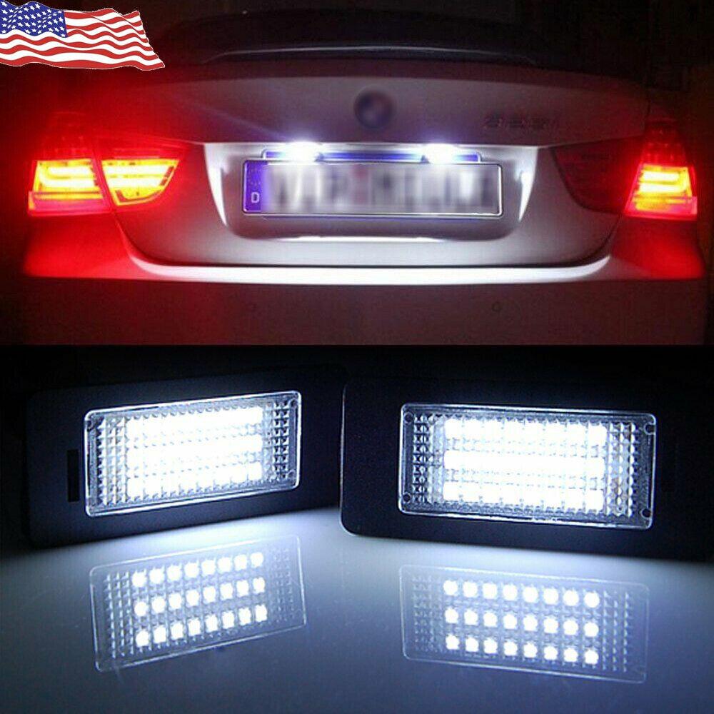 2 Led Number Plate Light BMW 3 Series E90 E91 E92 E60 E61 License Plate Light