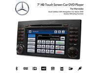 "7"" GPS Navigation Bluetooth Radio Car DVD Player USB SD Stereo For Mercedes Vito Sprinter A B Class"