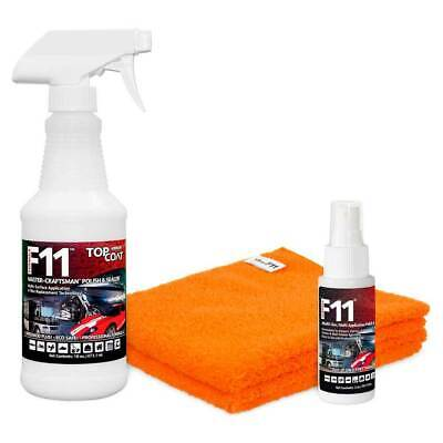 1 KIT TOPCOAT F11  POLISH & SEALER: 16oz Bottle+2oz Bottle+2 Towels