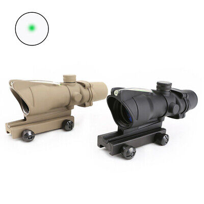 Tactical ACOG 1X32 Scope Green Fiber Green dot sight optics for hunting