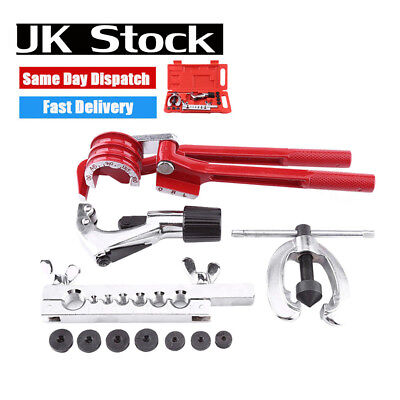 12pc METRIC PIPE FLARING TOOL KIT MECHANIC BRAKE PLUMBER WITH TUBE CUTTER BENDER