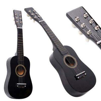 New Beginner Kids 6 Strings Acoustic Toy Guitar 23 Inch Color Hot Black