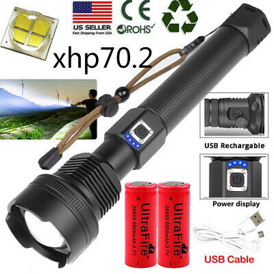 990000LMS Flashlight XHP90 XHP70.2 XHP50 26650 18650 USB Rechargeable Torch Lamp