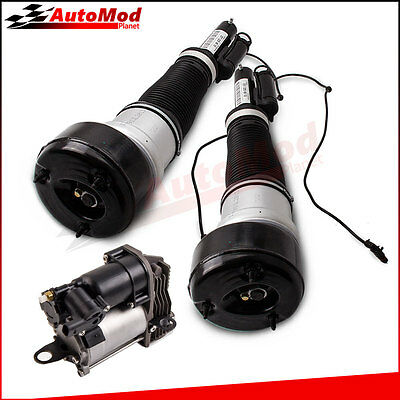 2 Front Air Suspension Struts w/ Compressor Pump Kit For Mercedes-Benz S350 2012