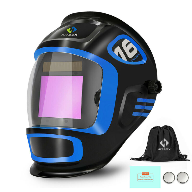 Large View Auto Darkening Welding Helmet True Color Weld Mask Hood ARC TIG MIG