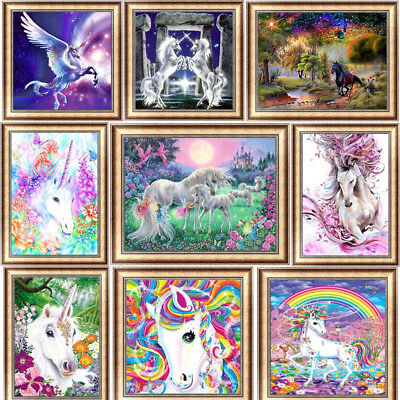 Horse 5 Horse (Unicorn DIY 5D Diamond Painting Drill Horse Cross Stitch Kit Embroidery)