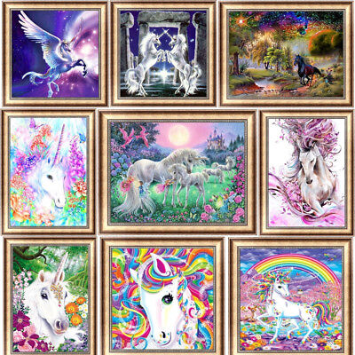 Horse Cross Stitch - Unicorn DIY 5D Diamond Painting Drill Horse Cross Stitch Kit Embroidery Decor