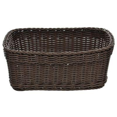 Wicker Bread Basket Dark Brown Oval - 12 1/8 L x 8 1/4 W x 5 3/8 H ()