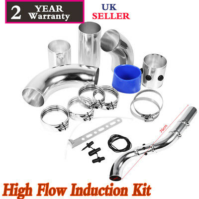 3 Inch Car Cold Air Intake Filter Alumimum Alloy Induction Kit Pipe Hose System