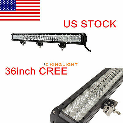36inch 234W CREE Flood Spot Combo LED Work Light Bar Offroad Boat SUV 240W 180W