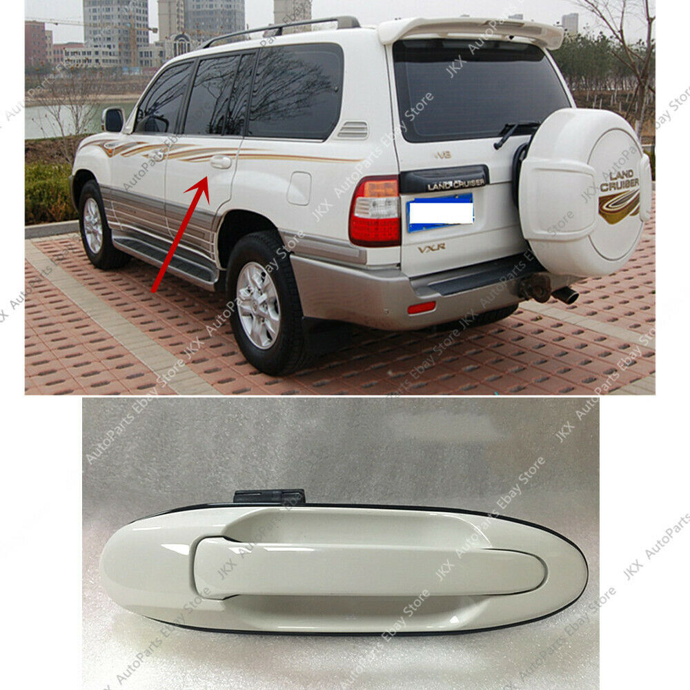 1X For Lexus LX470 1998-2007 Car Front Door Left Side White Handle Trim Replace