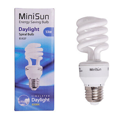 13W ES E27 Daylight Energy Saving CFL Reading  Craft  Grow Lamp Light Bulb