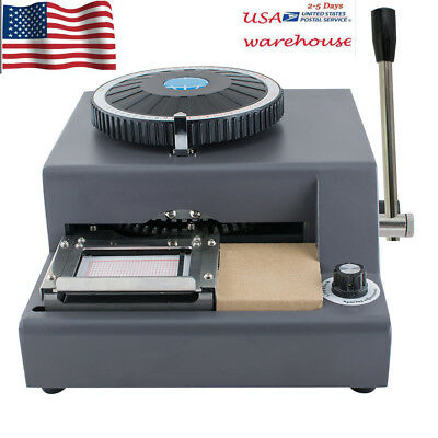 72 Character Letter Manual Embosser Pvc Vip Card Stamping Embossing Machine Fast