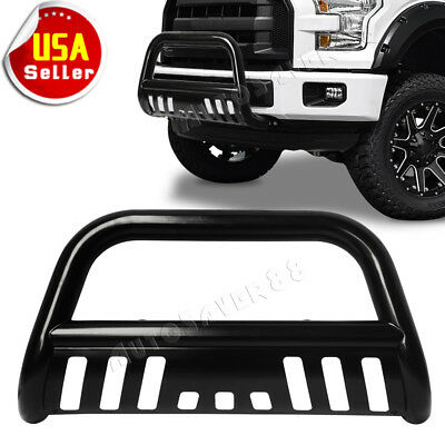 For 04-19 Ford F150 Black Stainless S/S Bull Bar Push Brush Bumper Grille Guard