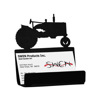 Swen Products Tractor Farmall International Black Metal Business Card Holder