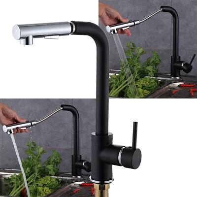 Wasserhahn Ausziehbar Spültischarmatur Küchenarmatur Mischbatterie + 360° Brause