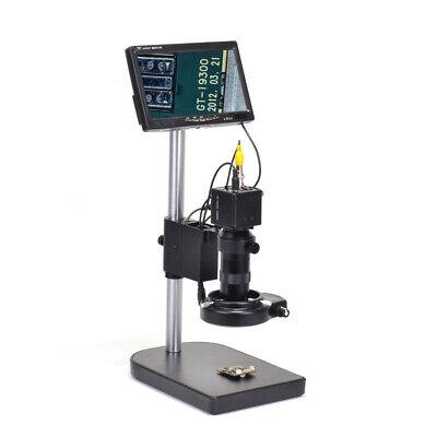 100x Bnc Av Tv Digital Industrial Microscope Camera Set C-mount Lens 7 Monitor