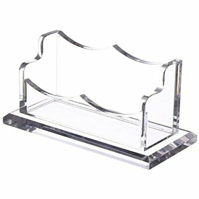 Sanrui Acrylic Business Card Holder For Desk Clear Stand Display Singletier