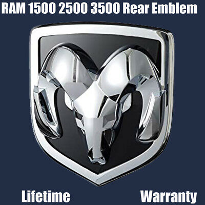 Chrome TAILGATE RAMS HEAD BADGE EMBLEM for Dodge Ram 1500 2500 3500 2009-2018 AA