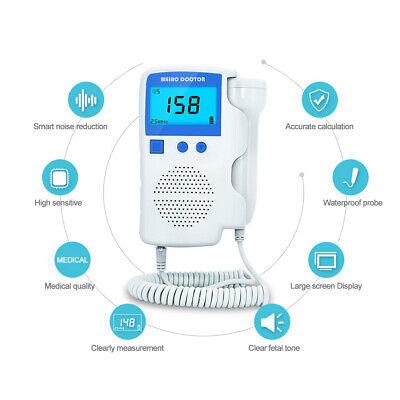 Baby Heartbeat Detector Monitor 3.0 Mhz Pregnant Pocket Fetal Doppler Ultrasound