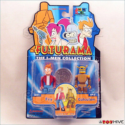 Futurama The I-Men Collection Fry & Calculon 2 figure pack made by Toynami worn