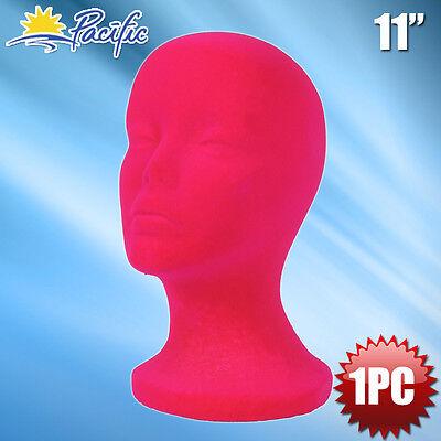 11 Styrofoam Foam Pink Mannequin Manikin Head Display Wig Hat Glasses