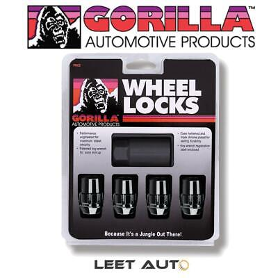 Gorilla Wheel Locks, Black,  12mm x 1.50 Thread, Bulge Acorn, 12x1.5, 71631NBC