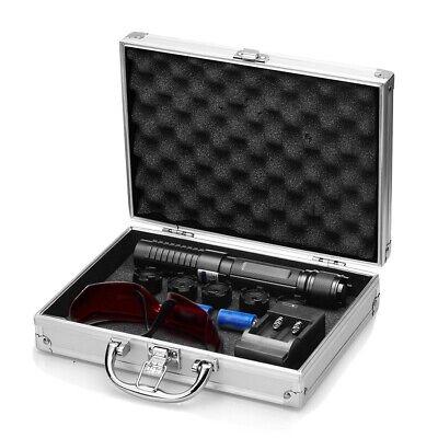 Military Blue Visible Beam High Power Laser Pointer 2x 1400mah 3.7v Battery