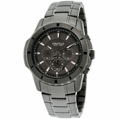 Bulova Men's 45A139 'Caravelle New York' Chronograph Gunmetal Steel Watch