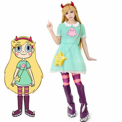 Evil Princess Costume (Girls Princess Star Butterfly Cosplay Costume Star vs.the Forces of Evil)