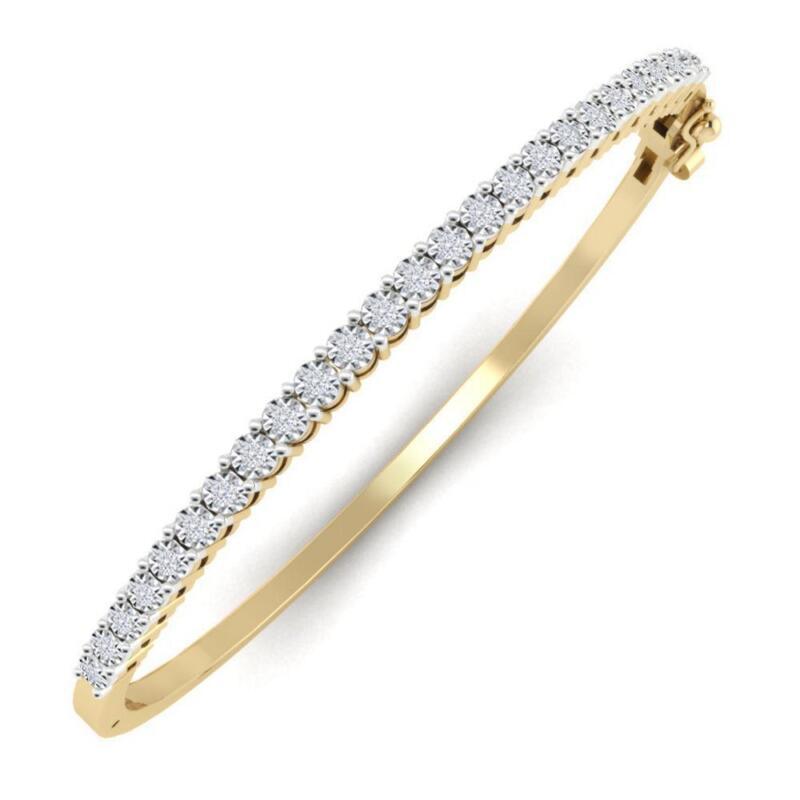 White Gold Diamond Bangle Ebay