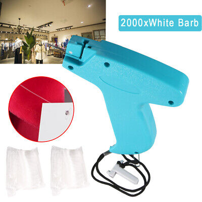 Clothes Garment Price Label Tag Tagging Gun With 2000 Barbs 1 Needle