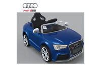 Licensed Audi RS5 12V Kids Ride on Car with Remote Control - Blue