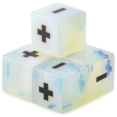 Handmade Collectable RPG Stone Fudge Dice, Opalite, 4-pack