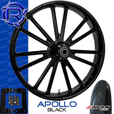 Rotation Apollo Black Motorcycle Wheel Kawasaki Vaquero Vulcan Package 21