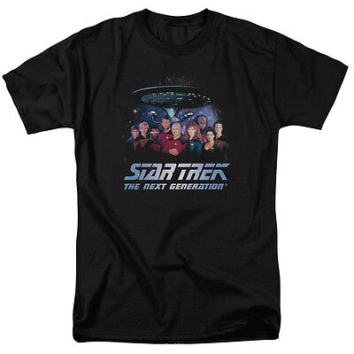Star Trek Next Generation Tng Cast Space Group Adult T Shirt All Sizes