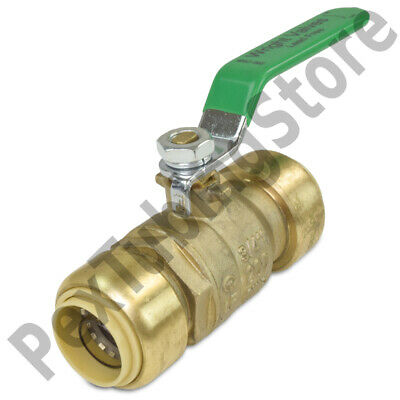34 Sharkbite Style Push-fit Push To Connect Lead-free Brass Ball Valve