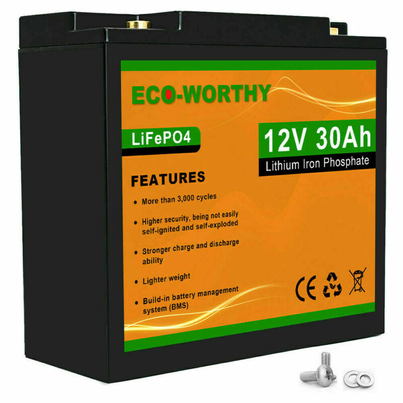360 Wh 12V 30Ah 12Volt Battery Lithium Iron Phosphate LiFePO4 Battery Deep Cycle