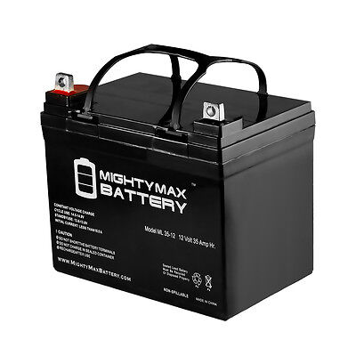 Mighty Max 12V 35AH Battery for John Deere Lawn  Garden Tractor Riding Mower