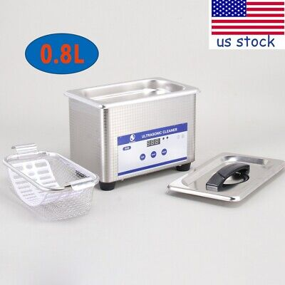 800ml 35w Ultrasonic Cleaner Digital Ultra Sonic Cleaning Machine With Basket