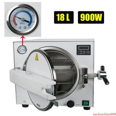 18l Dental Lab Autoclave Steam Sterilizer Medical Pressure Sterilization Machine