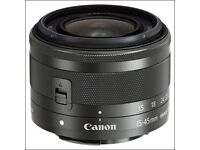 Brand New Canon EF-M 15-45mm f3.5-6.3 IS STM Lens for EOS M5 M6 M3 & M100 Compact Camera Systems CCS