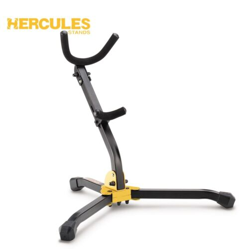 NEW Hercules DS530BB Alto/Tenor Durable Foldable Saxophone Stand with Carry Bag
