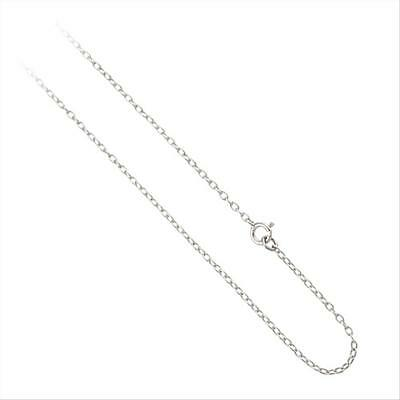.925 Sterling Silver 1mm Rolo Chain Necklace 18