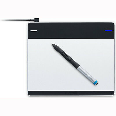 Wacom Intuos Pen 6 x 3.7 Drawing Art Tablet Small Black and Silver Mac/PC CTL480