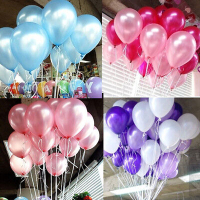 20-60pcs Birthday Wedding Baby Shower Party Pearl Latex Balloons 10inch - Birthday Baloon