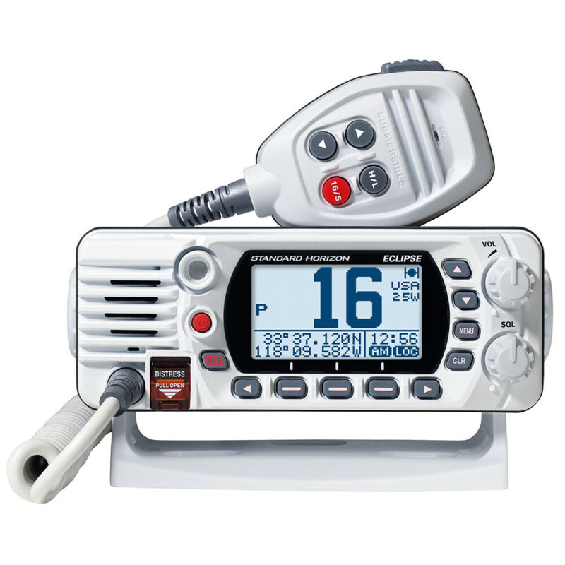Standard Horizon White VHF Marine Boat Radio GX1400 Eclipse Series Digital NEW