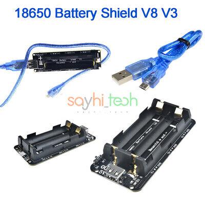 18650 Battery Shield V8 V3 Mobile Power Bank Usb Cable For Wifi Esp32 Esp8266