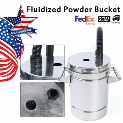 8l 304 Stainless Steel Fluidized Powder Hopper Bucket For Powder Coating Maching